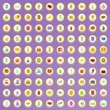 uppsättning för 100 förpackande symboler i tecknad filmstil Royaltyfri Foto