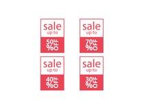 Uppsättning för försäljning för vektorbanermall Arkivbild