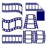Uppsättning för filmremsasymbol  Arkivbild