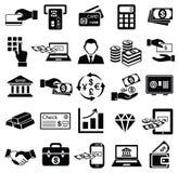Uppsättning för finanspengarsymbol, Royaltyfri Bild