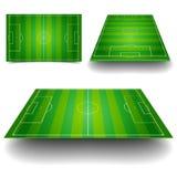 Uppsättning för fotbollfält Arkivfoto