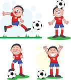 Uppsättning 2 för fotbollspelare Arkivfoton
