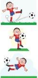 Uppsättning 3 för fotbollspelare Royaltyfria Foton
