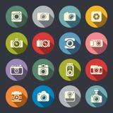 Uppsättning för fotokamerasymbol vektor illustrationer