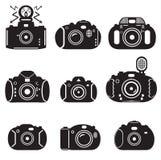 Uppsättning för fotokamerasymbol Royaltyfria Bilder