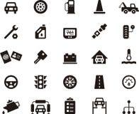 Uppsättning för garage- och bilreparationssymbol Royaltyfri Foto