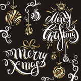 Uppsättning 4 för glad jul Royaltyfria Bilder