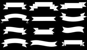 Uppsättning för grafisk design för baner för vektor 2d enkla royaltyfri bild
