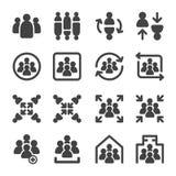 Uppsättning för gruppsymbol royaltyfri illustrationer