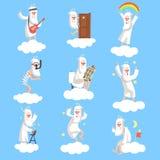 Uppsättning för gudteckenarbetsdag royaltyfri illustrationer