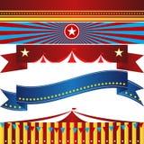 Uppsättning för händelse för cirkuskarnevalbaner Royaltyfri Bild