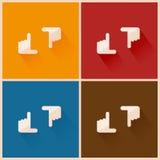 Uppsättning för handramsymbol Arkivbild