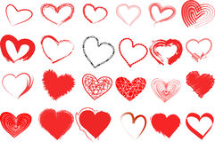 Uppsättning för hjärtavalentinsymbol Royaltyfri Foto