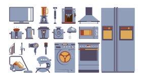 Uppsättning för hushållanordningar vektor illustrationer
