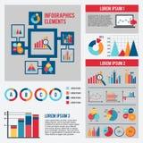 Uppsättning för infographics för affärsdiagram Royaltyfria Bilder