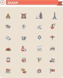 Uppsättning för Japan loppsymbol vektor illustrationer