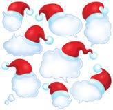 Uppsättning 1 för julanförandebubblor Arkivbild