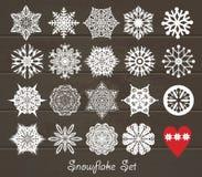 Uppsättning för juldesignsymboler Royaltyfri Fotografi
