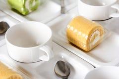 Uppsättning för kaffeavbrott Fotografering för Bildbyråer