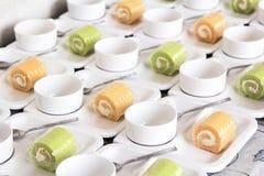 Uppsättning för kaffeavbrott Royaltyfria Bilder
