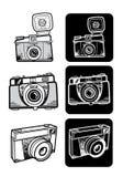 Uppsättning för kamera för Lomo stilfoto Arkivfoto