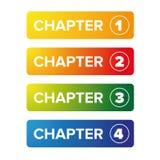 Uppsättning för kapitelbokmärkeknapp Fotografering för Bildbyråer