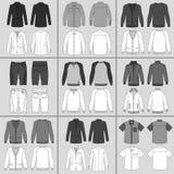 Uppsättning för kläder för man` s stock illustrationer