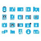 uppsättning för kontaktmobiltelefonsymbol Arkivfoto