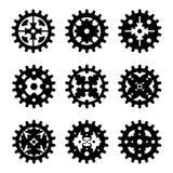 Uppsättning för kugghjul för maskinkugghjulhjul Fotografering för Bildbyråer