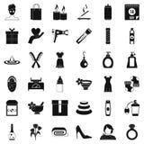 Uppsättning för kvinnatingsymboler, enkel stil Arkivbilder