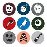 uppsättning för levande dödsymbolstema Arkivfoton