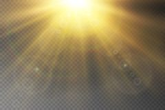Uppsättning för ljus effekt för vektor för glöd genomskinlig royaltyfri illustrationer