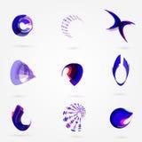 Uppsättning för logo för affär 3d för vektor abstrakt för ditt Arkivbild