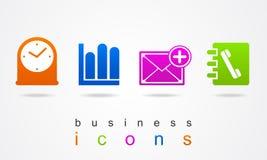 Uppsättning för logo för knapp för tecken för affärssymbolsrengöringsduk Royaltyfri Foto