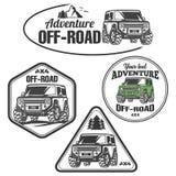 Uppsättning för logo för lastbil för trofé för bilav-väg 4x4 suv Royaltyfri Bild