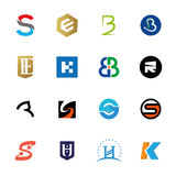 Uppsättning för logobokstavssymbol Vektor Illustrationer
