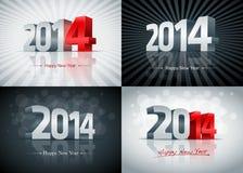 2014 uppsättning för lyckligt nytt år Arkivfoton