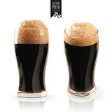 Uppsättning för mörkt öl med den snabba banan royaltyfri bild