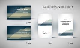 Uppsättning för mall för affärskort Fotografering för Bildbyråer