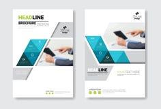 Uppsättning för malldesignbroschyr, årsrapport, tidskrift, affisch, företags presentation, portfölj, reklambladsamling med vektor illustrationer