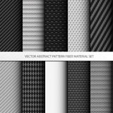 Uppsättning för material för fiber för vektorabstrakt begreppmodell Arkivbilder