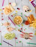 Uppsättning för meny för mat för unge` s royaltyfri foto