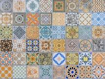 Uppsättning för modeller för keramiska tegelplattor för vägg mega Arkivfoton