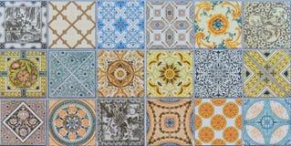Uppsättning för modeller för keramiska tegelplattor för vägg mega Royaltyfria Foton