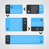 Uppsättning för moment för Infographics alternativbaner Royaltyfria Foton
