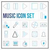 Uppsättning för musiksymbolsfärg vektor illustrationer