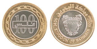 Uppsättning för myntBahrain fils Royaltyfria Foton