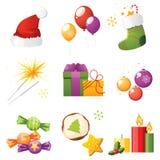 Uppsättning för nytt år stock illustrationer