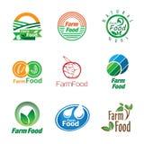 Uppsättning för organisk mat stock illustrationer