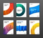 Uppsättning för orientering för broschyrräkningsdesign för affär royaltyfri illustrationer